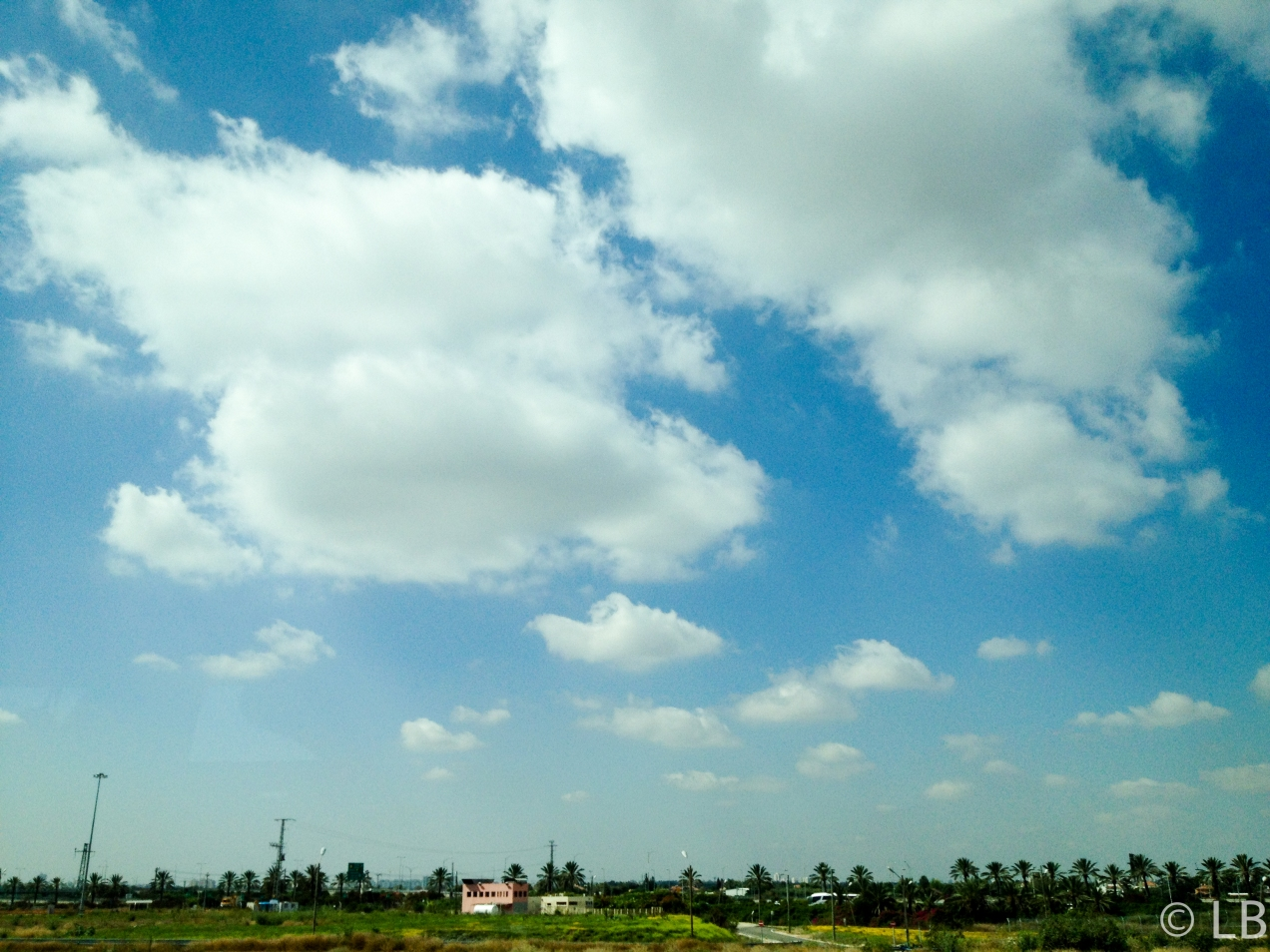 The sky over ... the BGI Airport